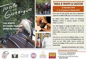 Table, Truffes et Calèche