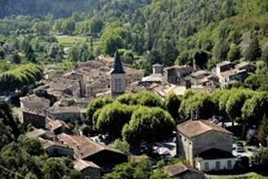 Saint Laurent le Minier, village sur la Vis