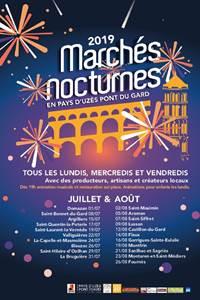 Marchés Nocturnes en Pays d'Uzès Pont du Gard