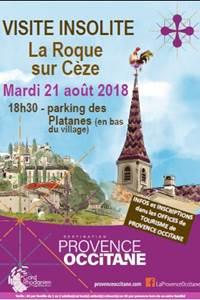 Visite insolite à La-Roque-sur-Cèze