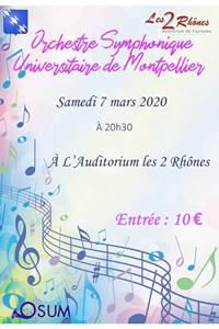 Concert avec l'Orchestre Symphonique Universitaire de Montpellier