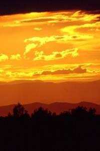 Coucher de soleil sur la Garrigue