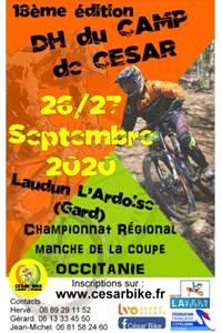 Descente VTT (DH) du CAMP de CESAR – Championnat Régional et Manche de la coupe OCCITANIE