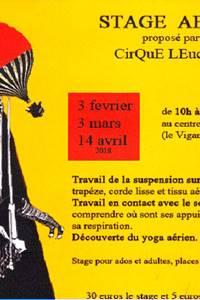 Stage aérien par le Cirque Leucques