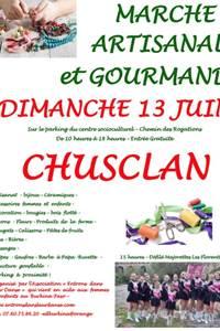 Marché artisanal à Chusclan