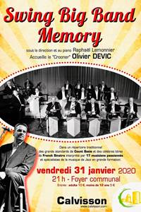 Concert Swing Big band Memory et Olivier Devic