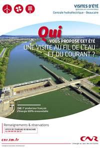 Visite de la centrale hydroélectrique CNR à Beaucaire