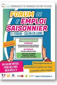Forum de l'emploi saisonnier - Communauté de Communes du Pont du Gard