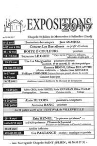 Expositions 2017 à la Chapelle St Julien à Salinelles