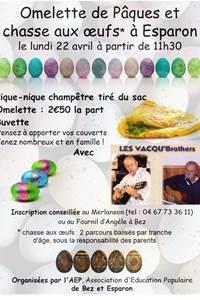 Omelette et chasse aux oeufs de Pâques