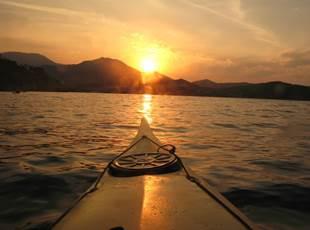 Sunset sea kayaking