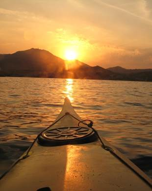 Sunset sea kayaking