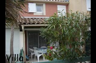 Petite villa+terrasse couverte+jardinet+clim