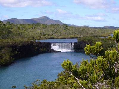 Madeleine reserve and waterfall
