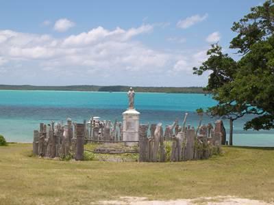 Carved totem palisade, Isle of Pines