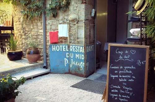 Restaurant midi à l'ombre menu ardoise © Restaurant midi à l'ombre
