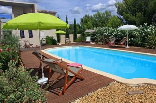 Hôtel Patio de Violette Uzès plage piscine © Hôtel Patio de Violette