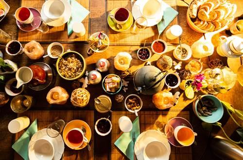 petit déjeuner-la vieille maison, Durfort et St Martin-photo aspheries ©