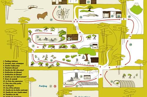 Jardin Arboretum de Bonsai - Plan du Site ©