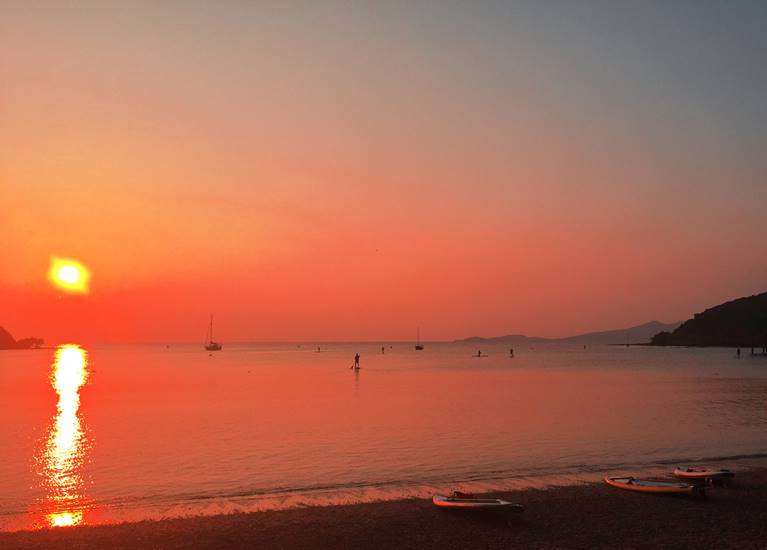 Coucher de soleil Kuendu Beach