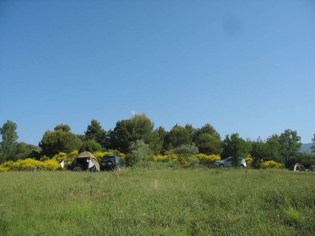 Vue extérieur camping